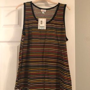 Lularoe stripped tank top 2x NWT